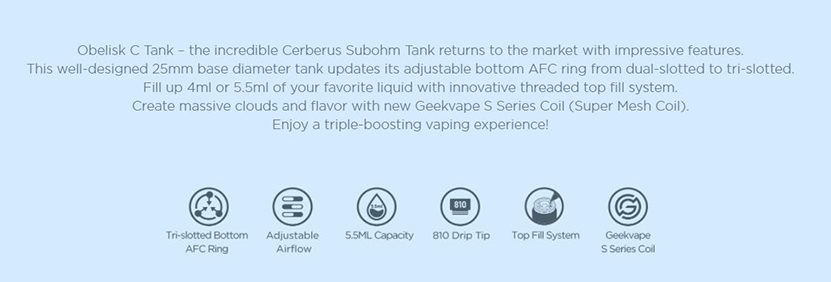 Obelisk C Cerberus Tank Features