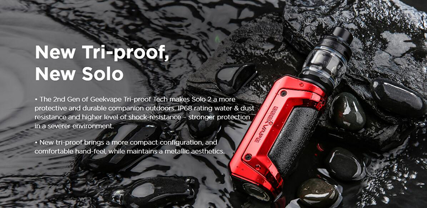 GeekVape S100 Aegis Solo 2 Kit New Tri-proof