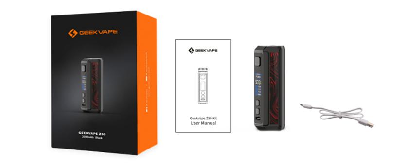 GeekVape Z50 Mod package