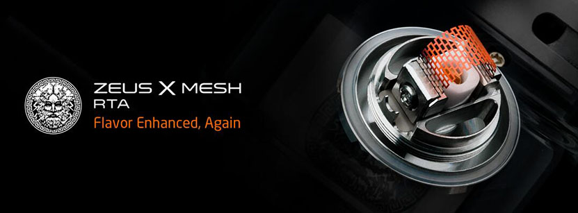 Zeus X Mesh RTA Flavor enhanced