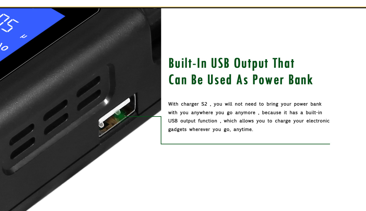 Golisi S2 Charger Built-in USB Output