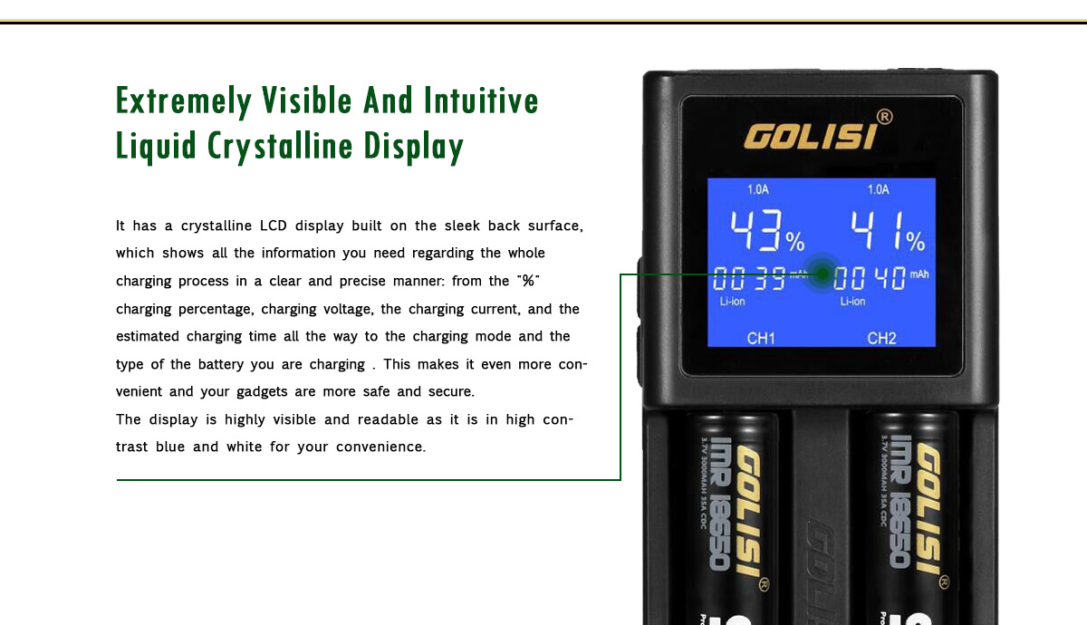 Golisi S2 Charger LCD Display