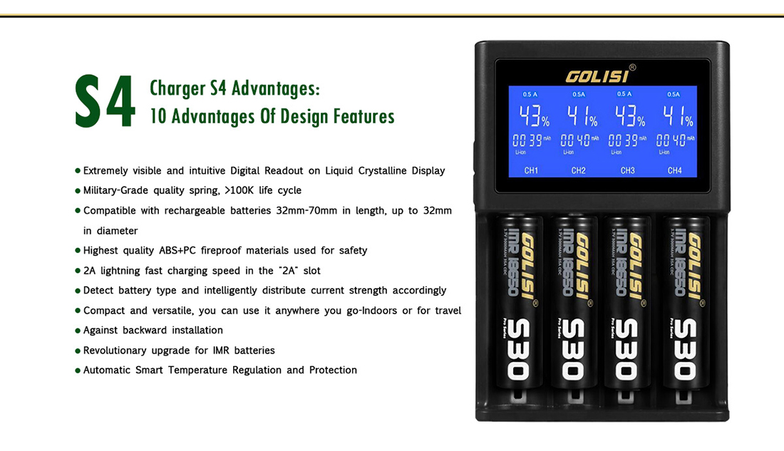 Golisi S4 Charger Advantage