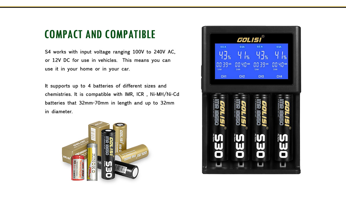 Golisi S4 Charger Compact