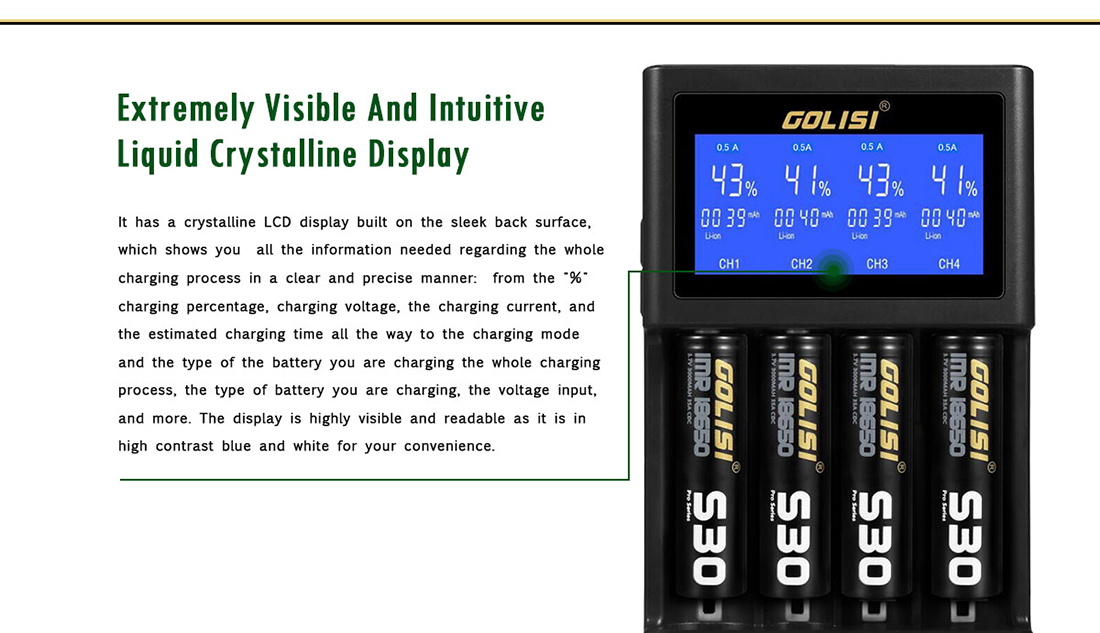 Golisi S4 Charger LCD