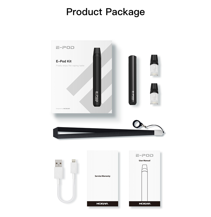 Hcigar E-Pod Kit Package