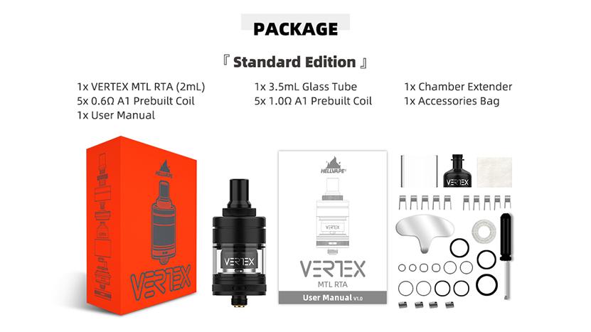 Hellvape Vertex MTL RTA Package