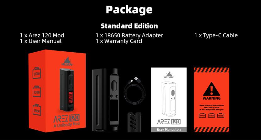 Hellvape Arez 120W Mod package