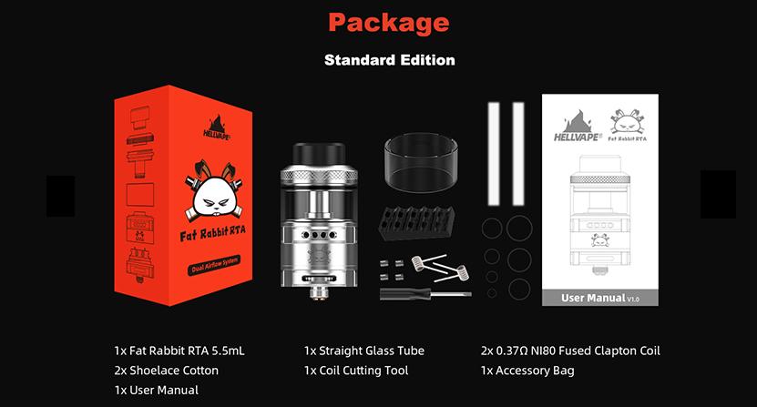 Hellvape Fat Rabbit RDA package