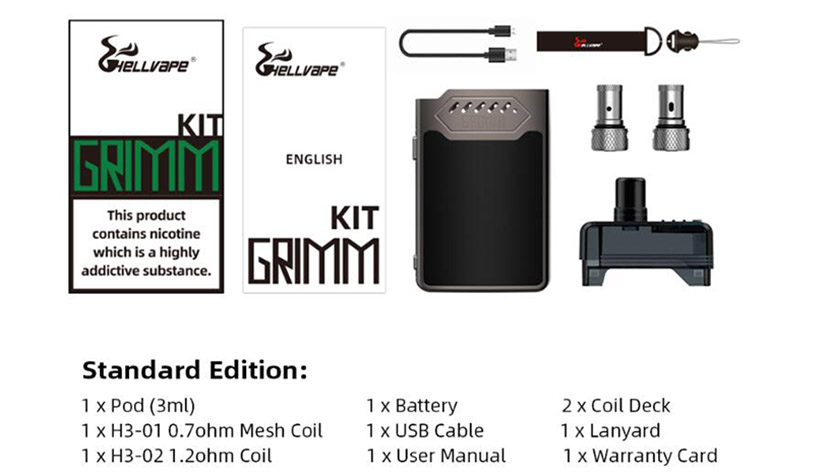 Hellvape Grimm Kit Features 8