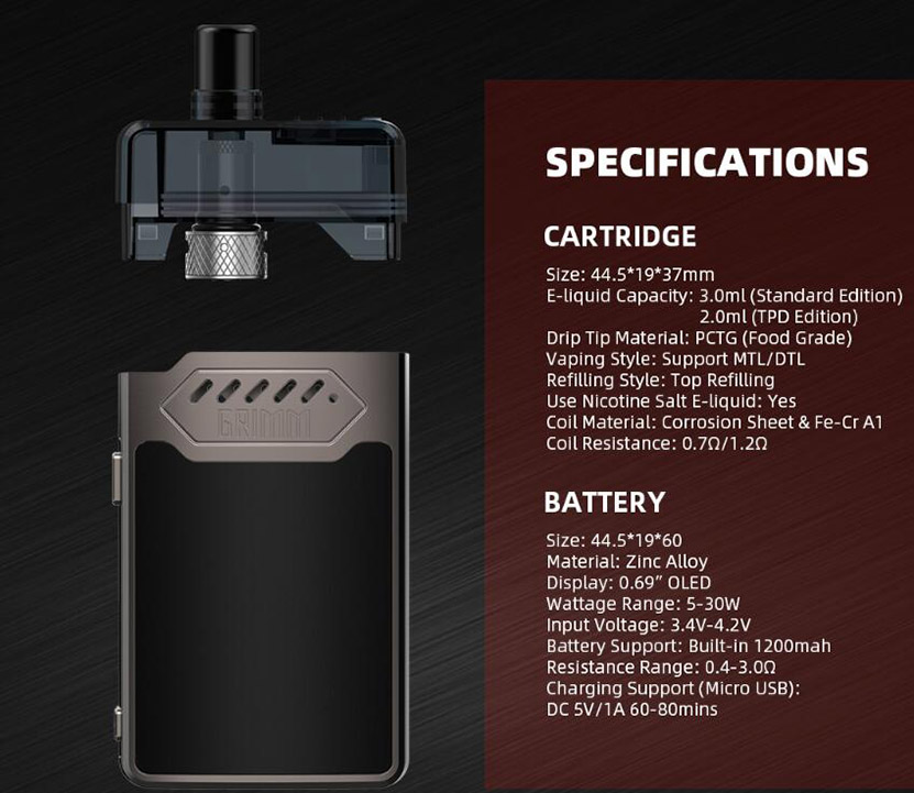 Hellvape Grimm Kit Features 9