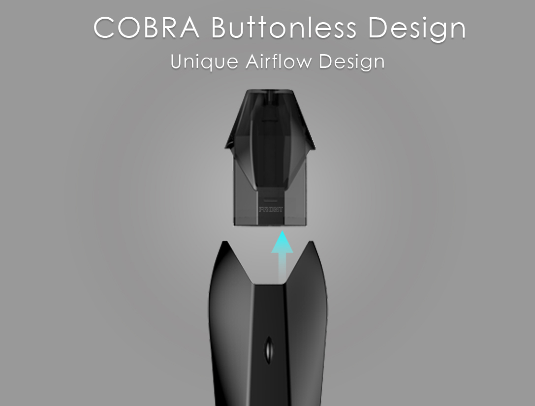 Hugo Vapor Kobra Buttonless Design