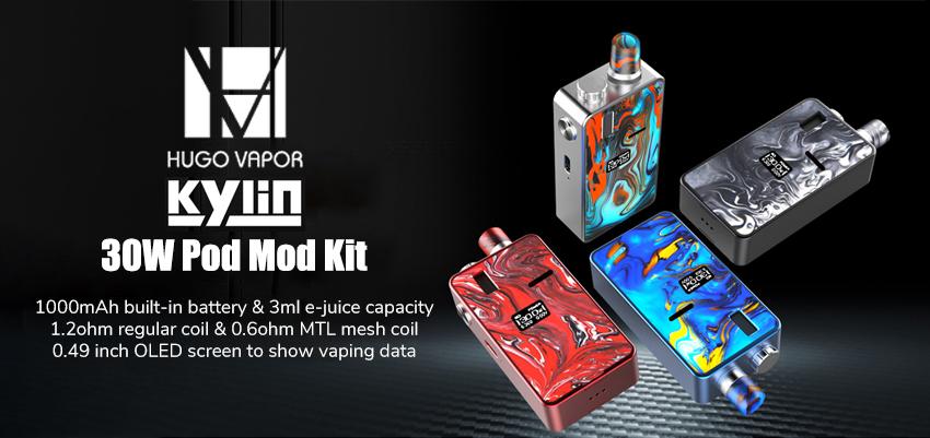 Hugo Vapor Kylin 30W Pod Mod Kit Banner