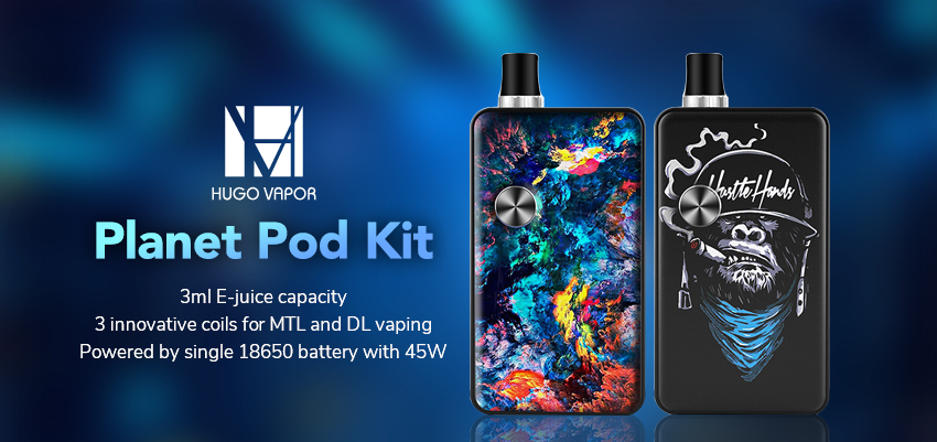 Hugo Vapor Planet Pod Kit Banner