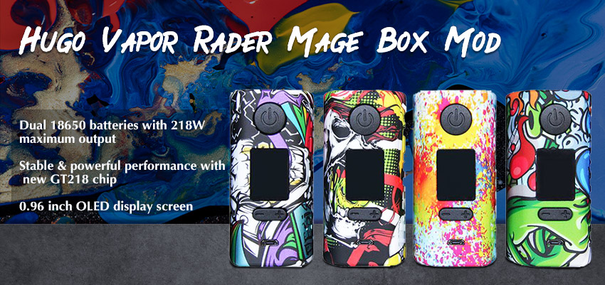 Hugo Vapor Rader Mage Box Mod Banner