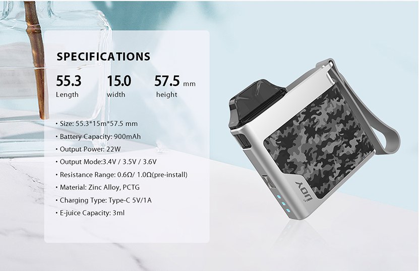 IJOY Aria Pod Kit Specification