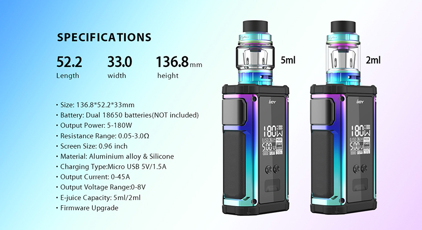 IJOY Captain 2 Kit Specification