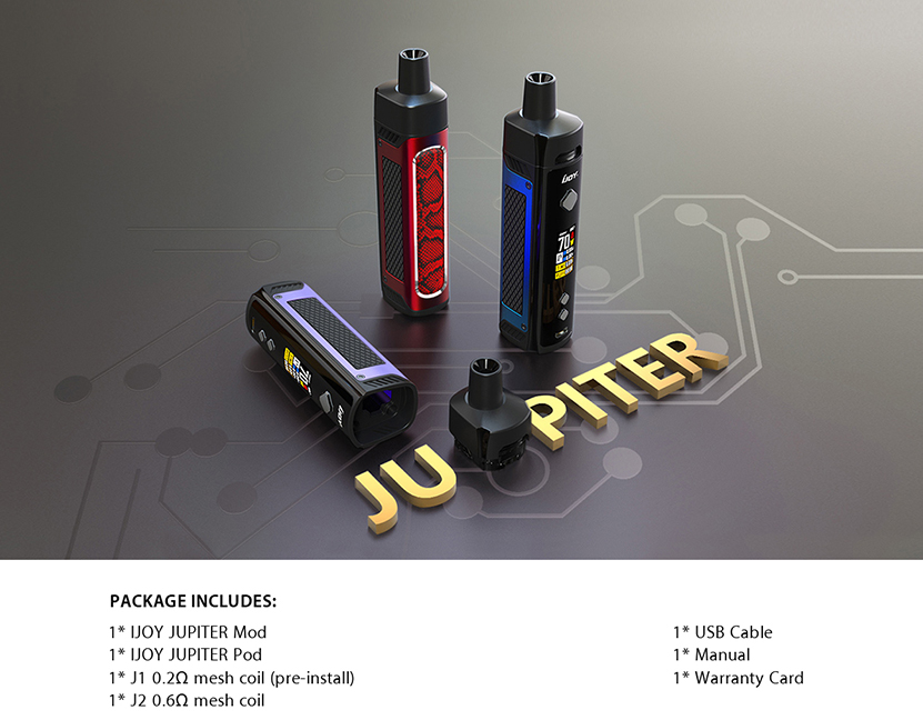 IJOY Jupiter Kit Feature Contents