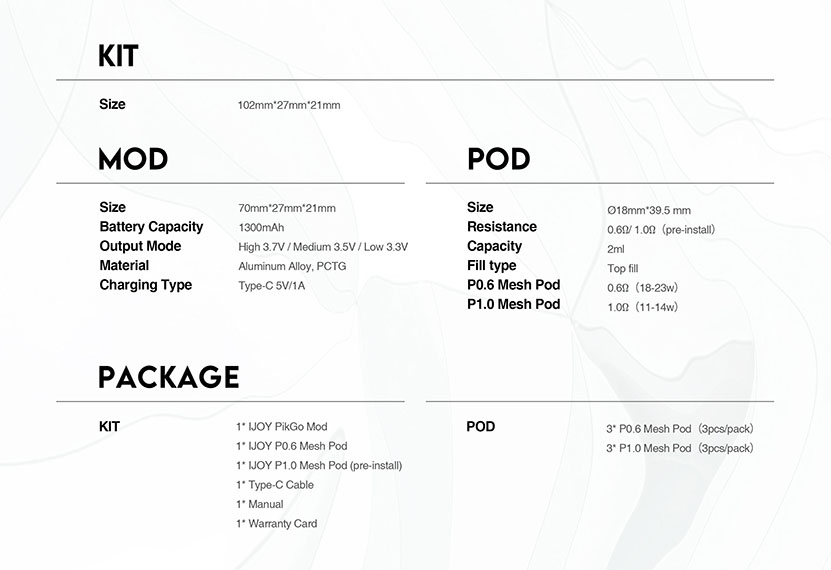 IJOY PikGo Kit Feature 6