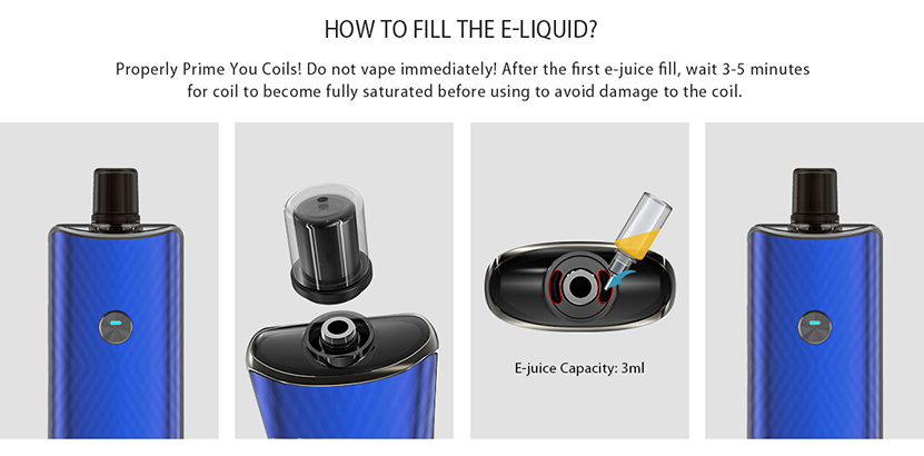 IJOY Saturn Pod Vape Kit Filling