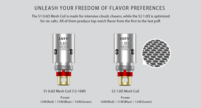 IJOY Saturn Mesh Coil two coils