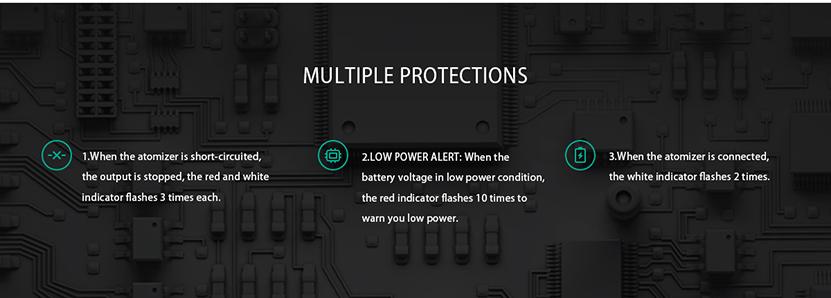 AI EVO Pod Vape Kit Protections