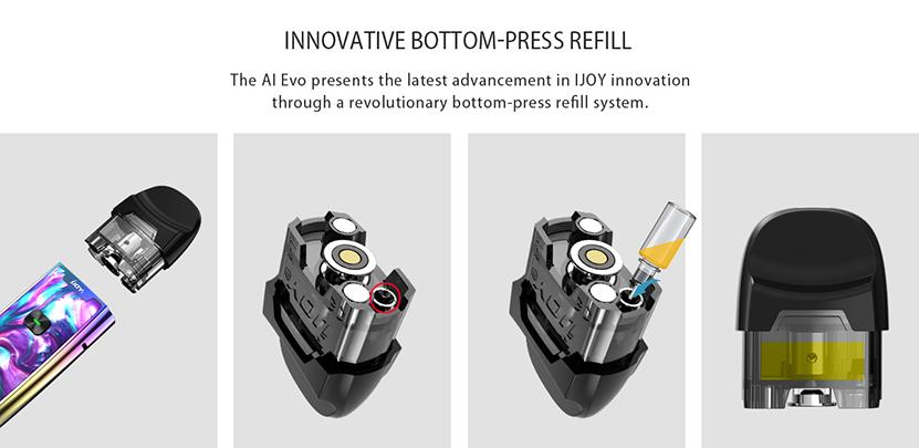 IJOY AI EVO Pod Bottom Press Refill