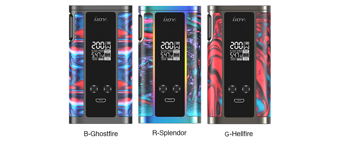 IJOY Captain Resin Mod Colors