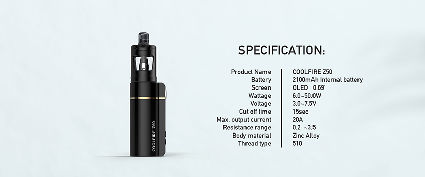 Innokin Coolfire Z50 Kit Feature 8