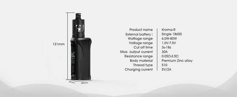 Kroma R Kit with Zlide Tank Parameter