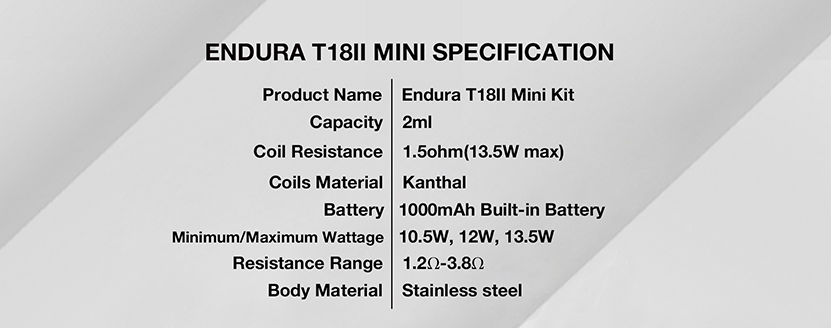 Innokin Endura T18Ⅱ Mini Kit Feature 7