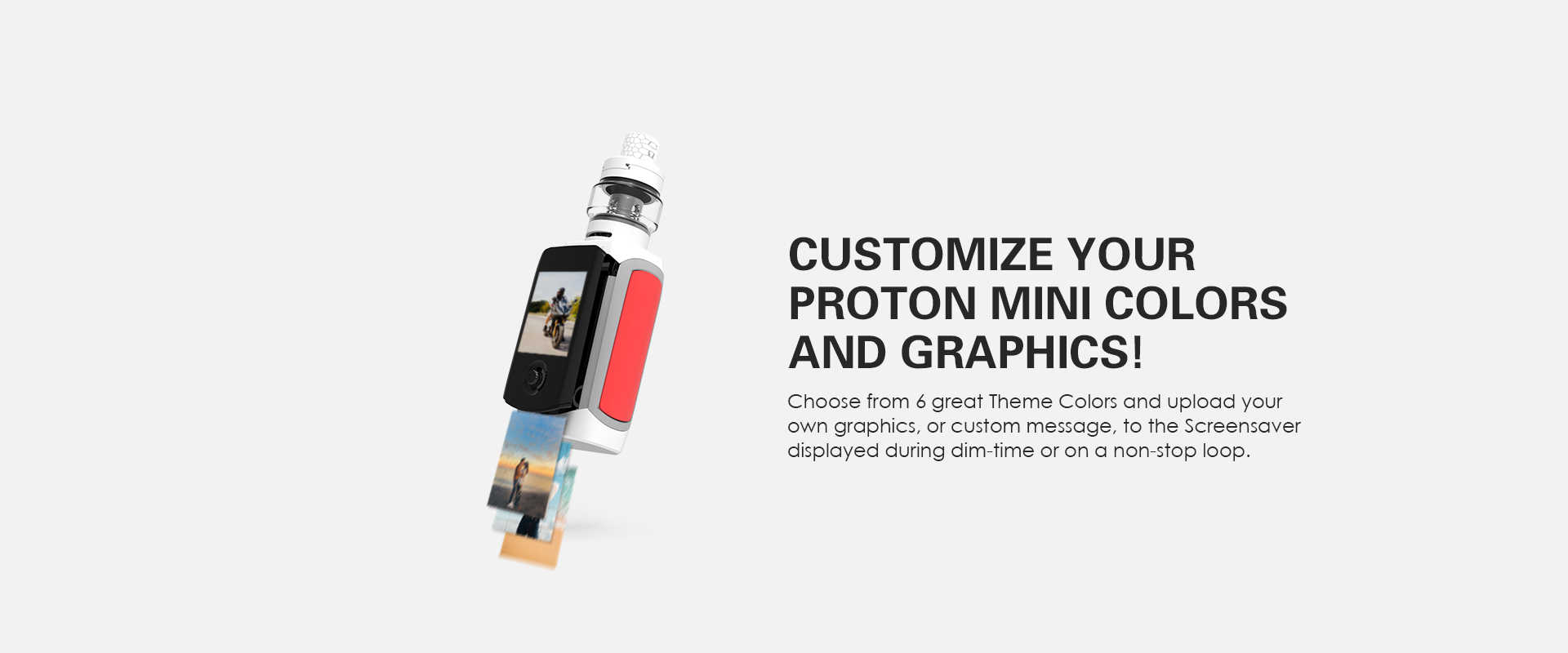 Innokin Proton Mini Vape Mod Customization