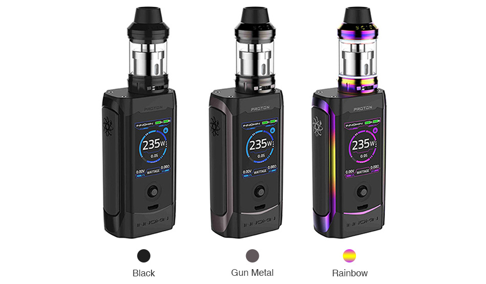 Innokin Proton 235W TC Mod with Scion II Subohm Tank Colors