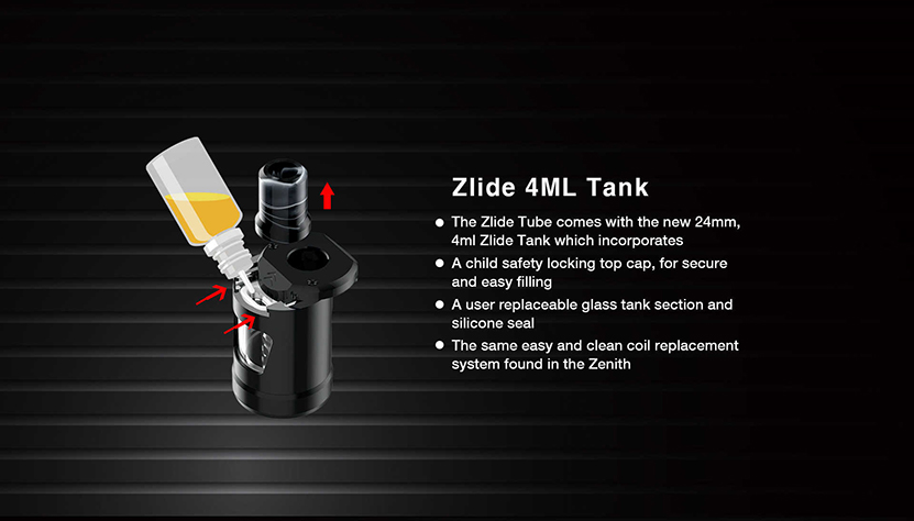 Zlide Tube Starter Pen Kit Tank