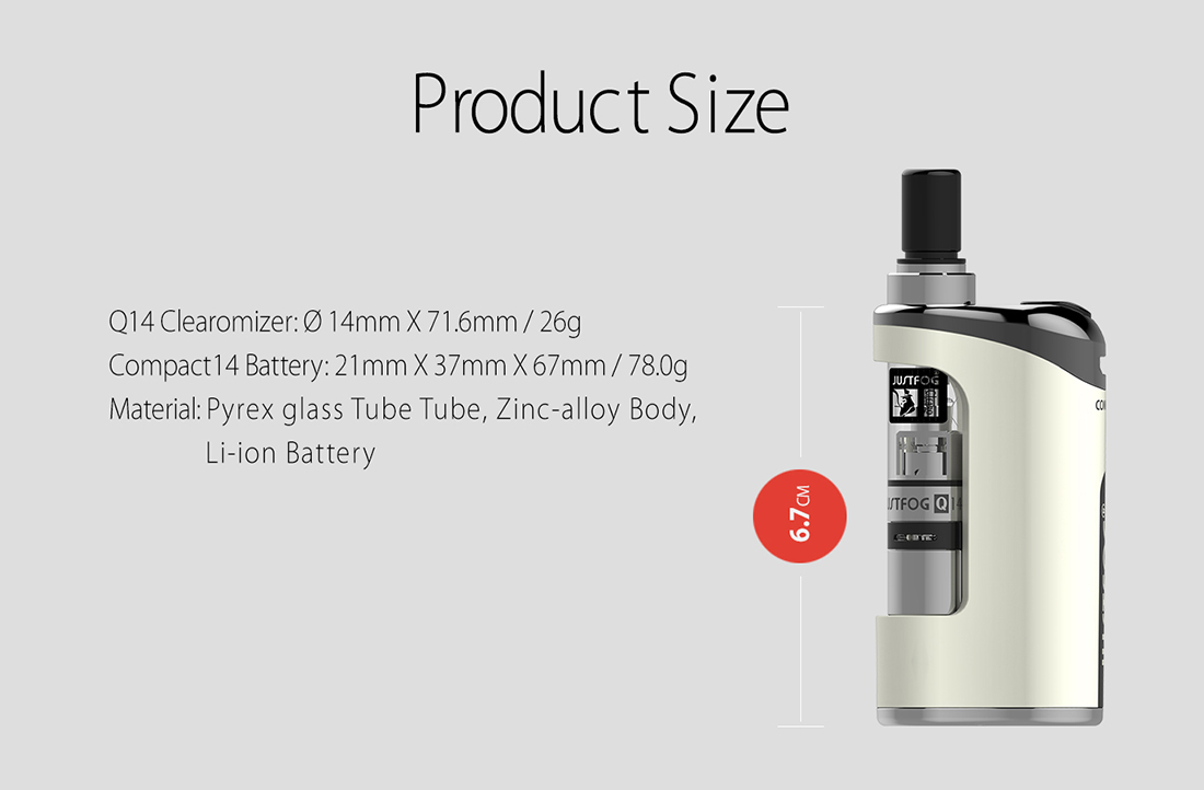 JUSTFOG Compact 14 Kit Size