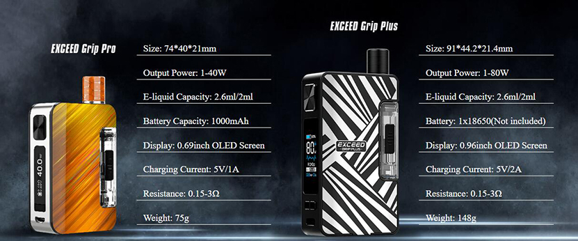 Joyetech Exceed Grip Plus Mod Pod Kit Specification