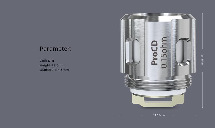 Joyetech ProCD-0.15ohm DL Coil Features 2