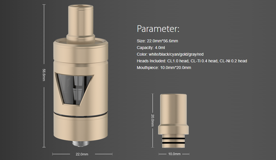 Joyetech TRON-S Parameters