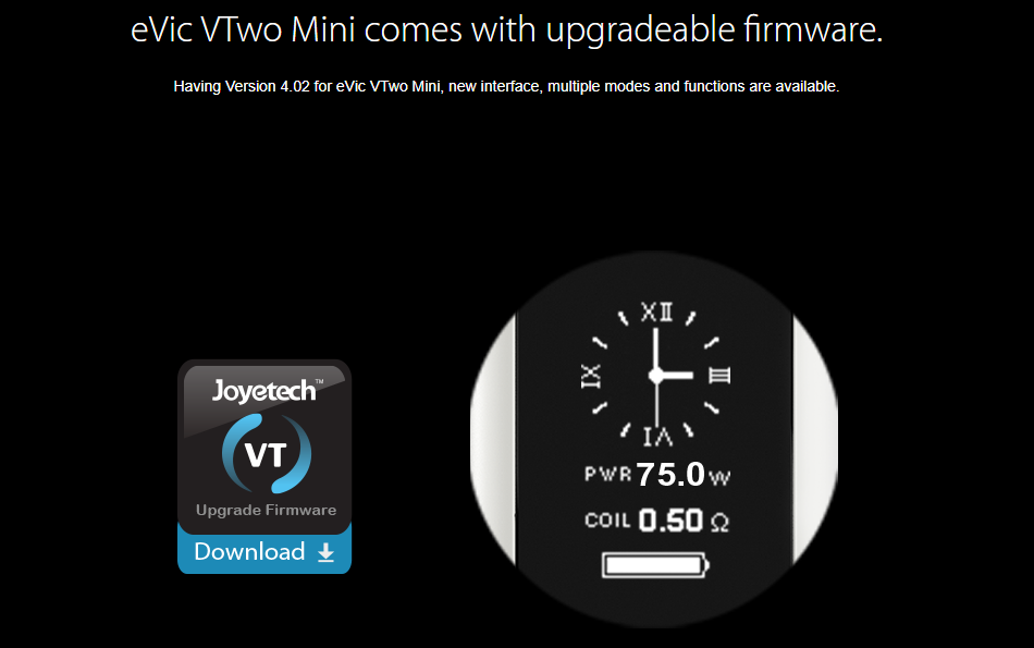 Joyetech eVic VTwo Mini Firmware