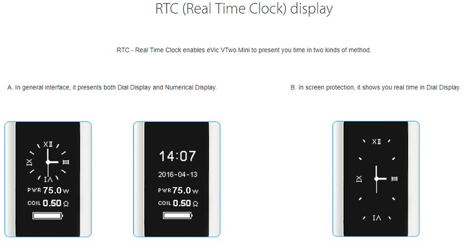Joyetech eVic VTwo Mini RTC Display