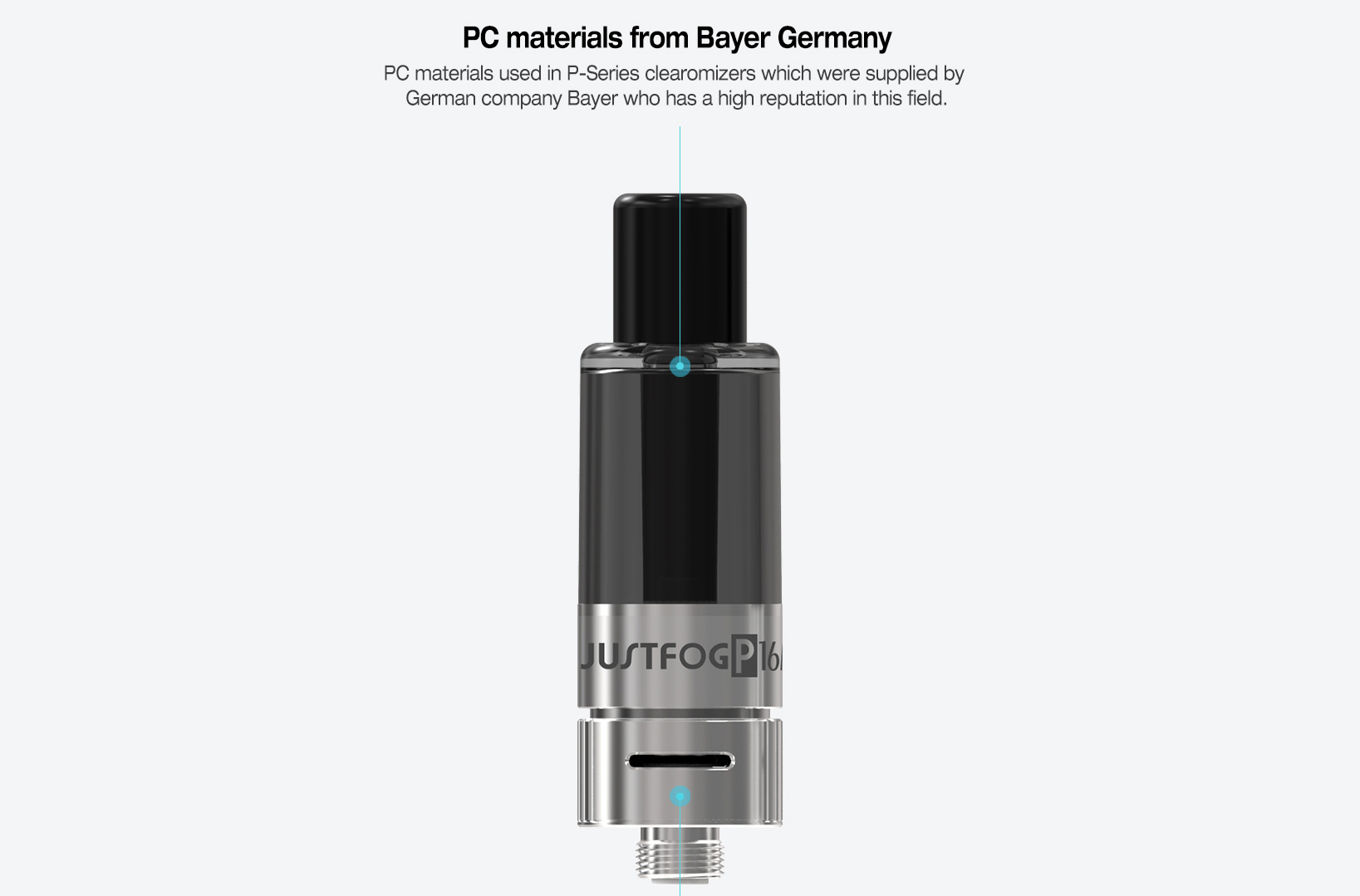 Justfog P16A Clearomizer Features 06