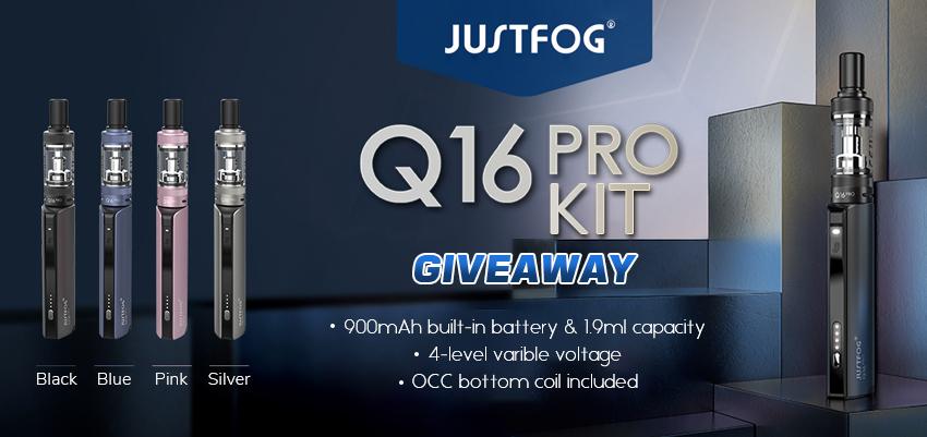 Justfog Q16 Pro Kit Giveaway