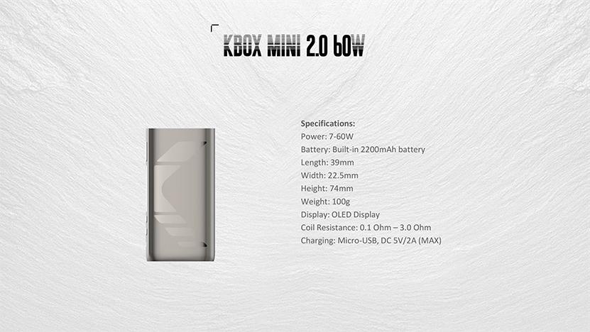 Kanger SUBOX MINI V2 Kit Specification