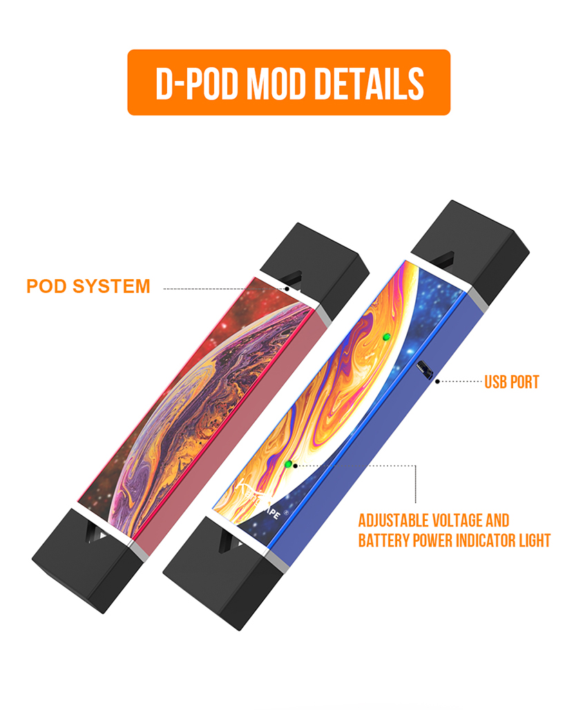Kangvape D-pod CBD Kit Instructure