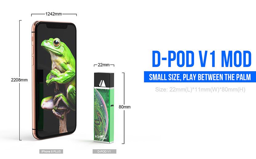 Kangvape D-pod V1 Kit Size