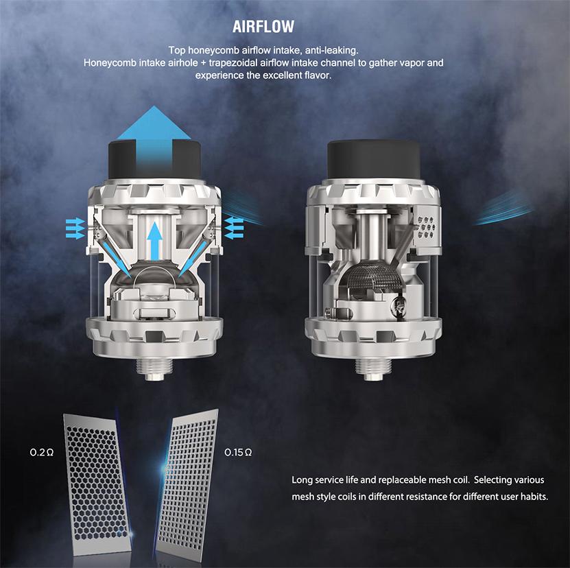 Kylin M Rebuildable Tank Atomizer Airflow
