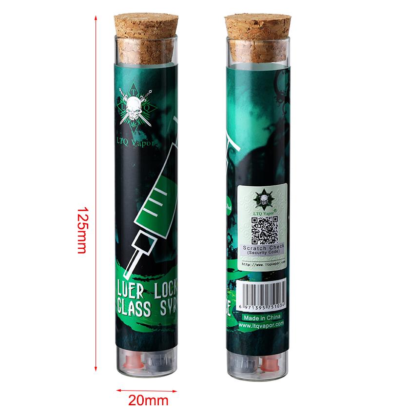 LTQ Vapor Luer Lock Glass Syringe 2.0ml Size