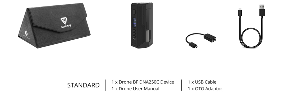 Lost Vape Drone BF DNA250C Mod Package