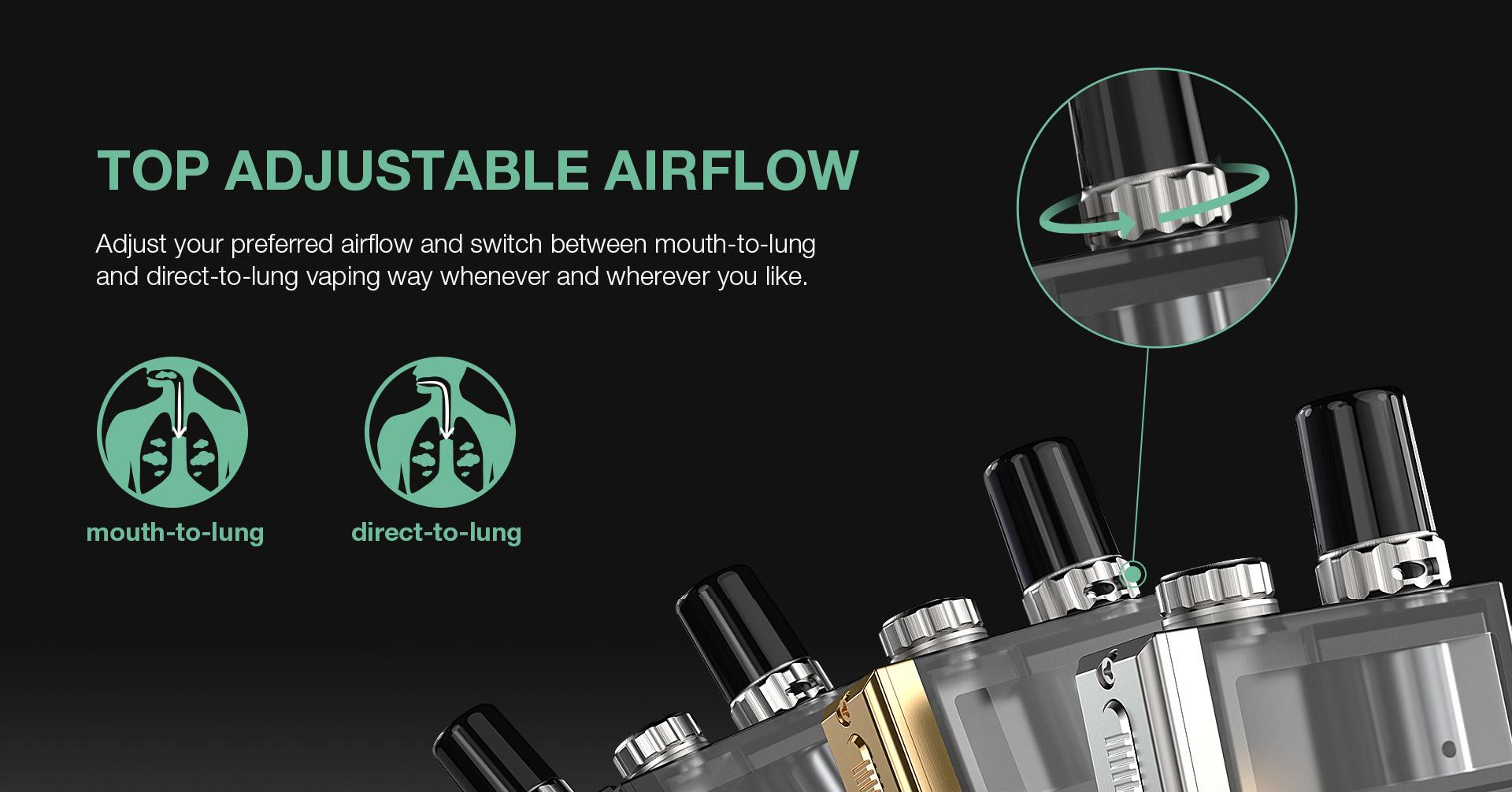 Lost Vape Orion Plus DNA Pod Kit Airflow