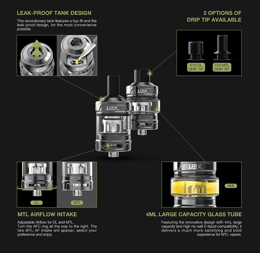 BTB 100W Starter Kit Tank Details